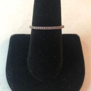 Silpada Purple Stone Stack Ring Size 8 New